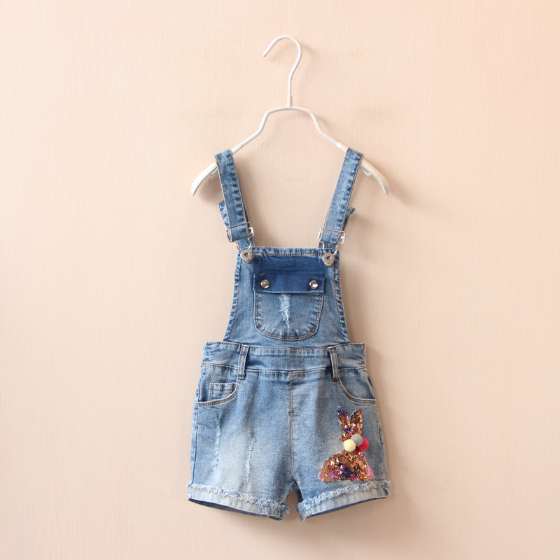 16537 620 # sequins maomao rabbit cowboy braces Childrens clothing wholesale