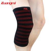 Kuangmi 1 Pièce Genou Manches de compression à tricoter Circulaire Élastique Genou Soutien Volley-Ball Genou Protecteur Soulager La Douleur de L'arthrite