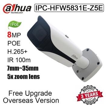 Dahua 8PM cámara IP IPC-HFW5831E-Z5E 7mm ~ 35mm 5x zoom lente SD ranura para tarjeta IR 100m cámara de red tipo bala reemplazo IPC-HFW5831E-ZE