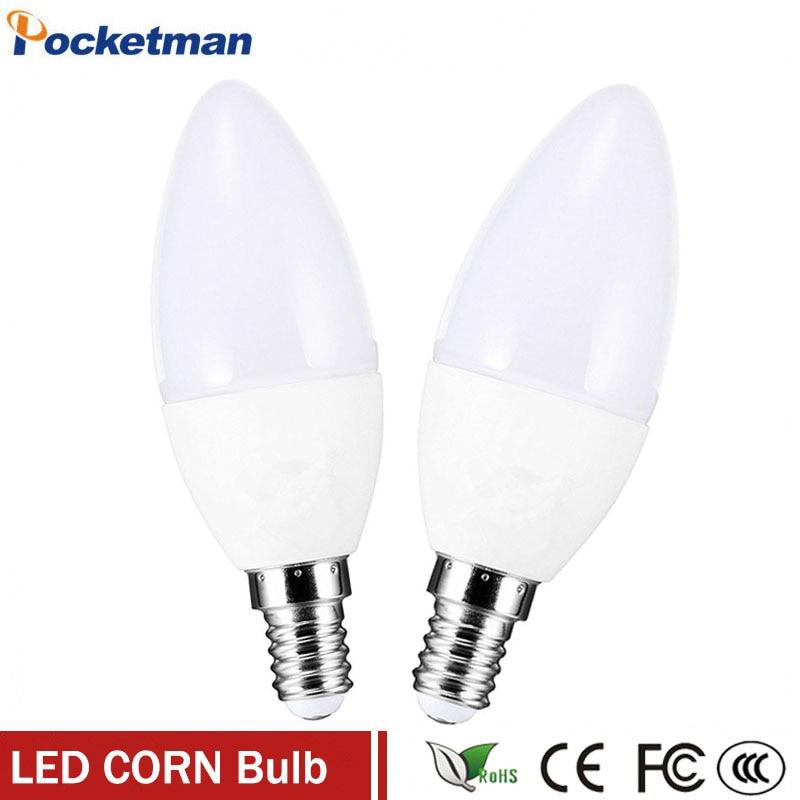 1Pcs/Lot LED E14 Bulb LED Candle Lamp Low-Carbon life SMD2835 e14 led AC220-240V Warm/White Energy Saving Free shipping zk40 5pcs e27 led bulb 2w 4w 6w vintage cold white warm white edison lamp g45 led filament decorative bulb ac 220v 240v