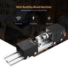 100W Mini Beads Machine Miniature Lathe DIY Woodworking Buddha Pearl Lathe Grinding and Polishing Beads Drill Rotary Tool