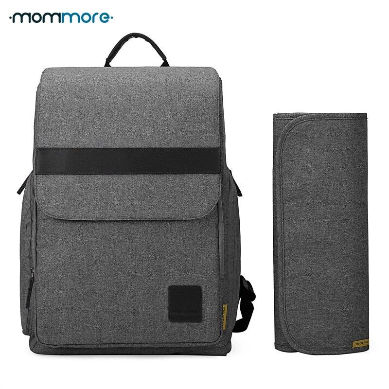 Mommore Мумия пеленки подгузник сумка бренда большой Ёмкость маленьких сумка рюкзак многофункциональный рюкзак для мамы подгузник унисекс су...