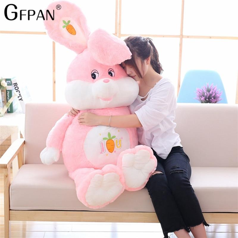 Lucky Rabbit 150cm Carrot Rabbit Plush Toy Stuffed Soft Doll Baby Kids Toys Animal Toy Birthday Christmas Gift For Children