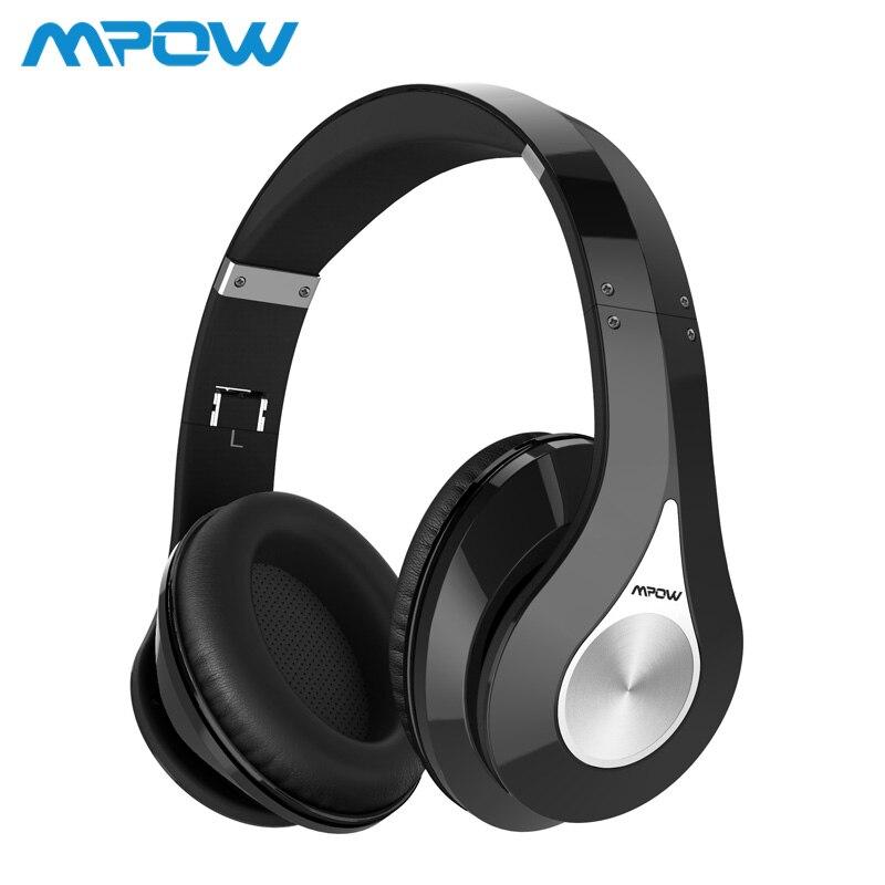 Mpow 059 Bluetooth 4,0 auriculares estéreo inalámbricos en el oído Cancelación de ruido HiFi auriculares con micrófono para iPhone Huawei HTC
