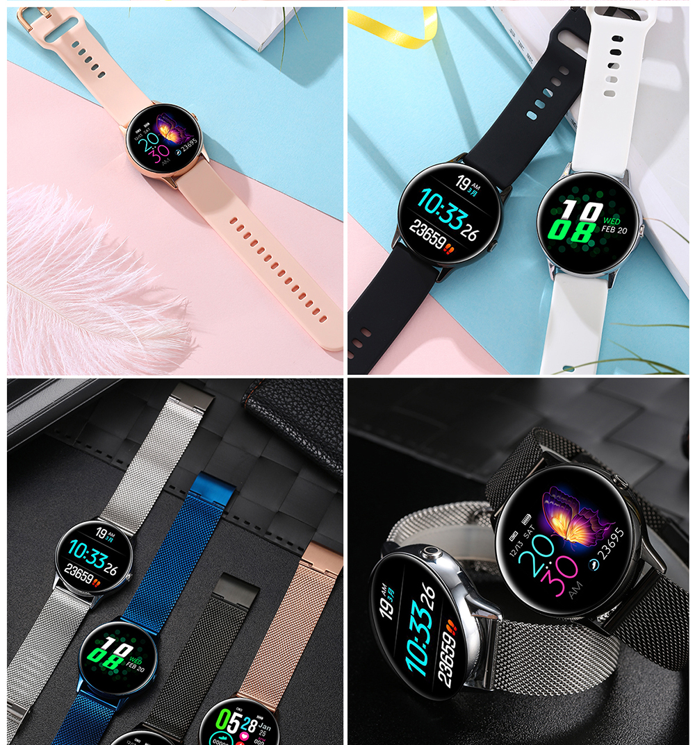 Women IP68 Waterproof Smart Watch for iPhone xiaomi LG with Bluetooth and Heart Rate Monitor Fitness Tracker 25