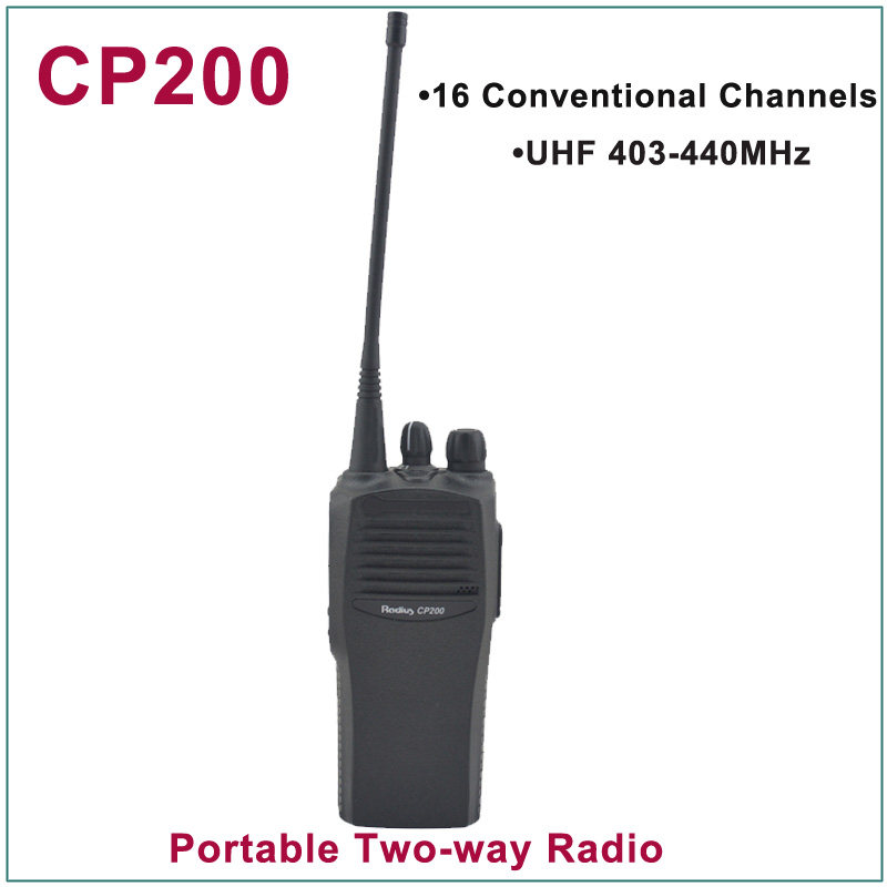 Brand New CP200 UHF 403-440MHz 16 Conventional Channels Portable Two-Way Radio(for Motorola)