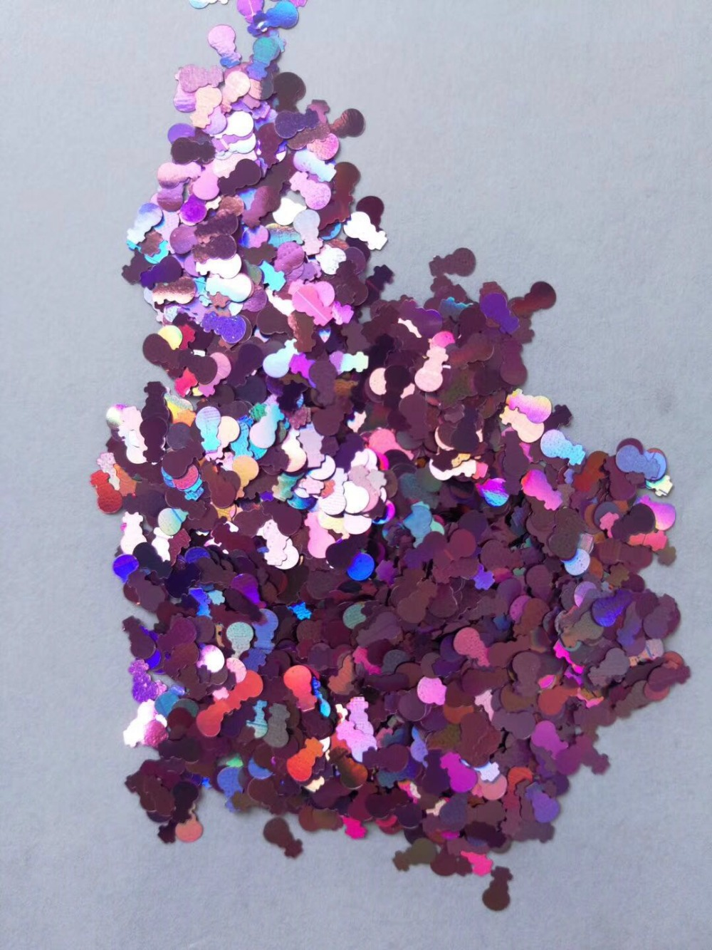 Laser Pink Snowman Loose glitters UV resin / Holographic / Solvent Resistant / Slime Art / Nail Art / Resin Jewelry 500 grams 50gimported solvent resistant laser gold onion powder sequins ultra thin super flash car color changing nail dressing 0 2 0 4mm