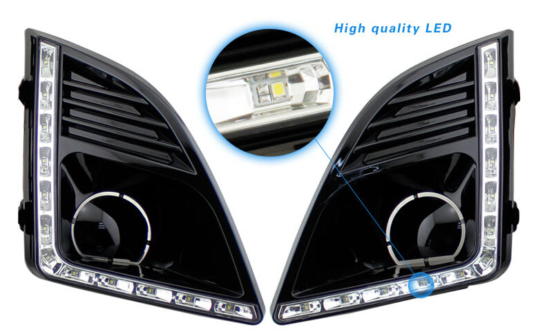 купить top quality LED drl daytime running light for Chevrolet Cruze MY 2013 facelift MY2013 with dimmer and turn light function по цене 5214.67 рублей