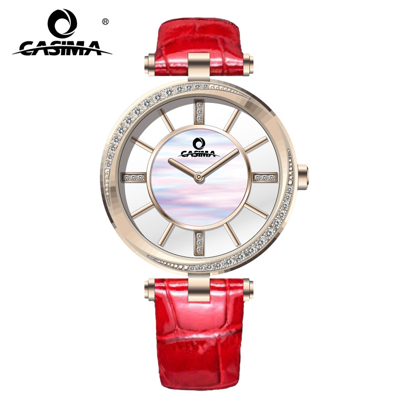 Relogio Feminino CASIMA Brand Women Watches Fashion Waterproof Leather Diamond Ladies Quartz Wrist Watch Clock Saat Montre Femme sanda gold diamond quartz watch women ladies famous brand luxury golden wrist watch female clock montre femme relogio feminino