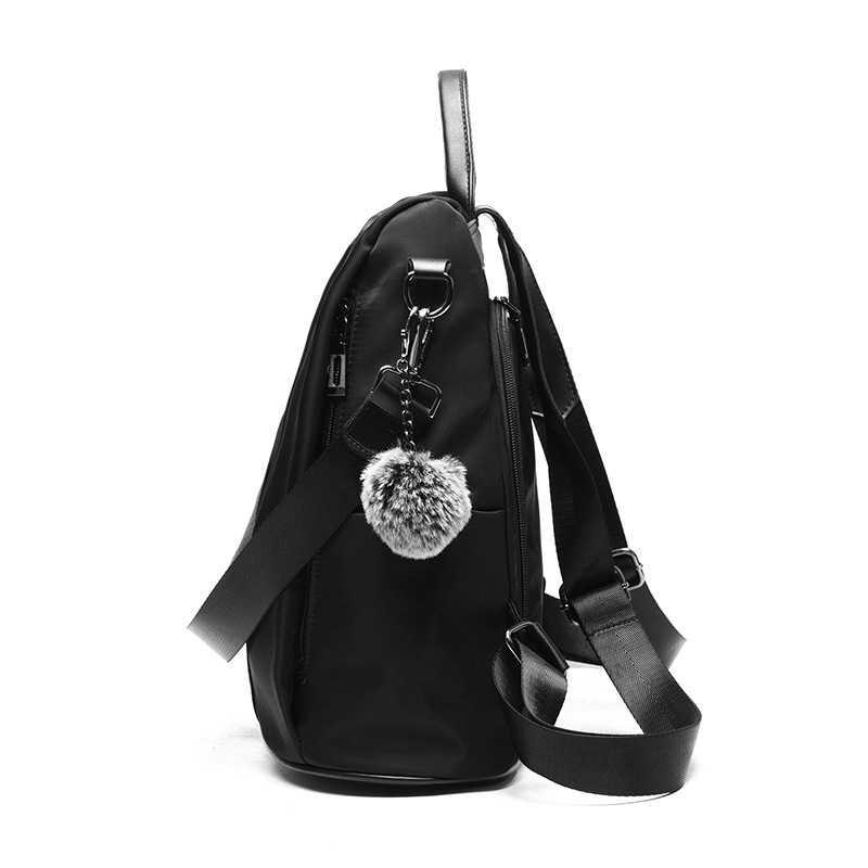 DRIGA Driga Hohe Qualität Anti-dieb Leder Frauen Rucksack Große Kapazität Pelz Ball Schule Tasche für Teenager mädchen reise rucksack