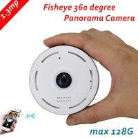 960P IP Camera Fisheye Panorama 1.3MP Lens IR Night Vision HD Security CCTV Camera 360 Degree View P2P max 128G 2way voice