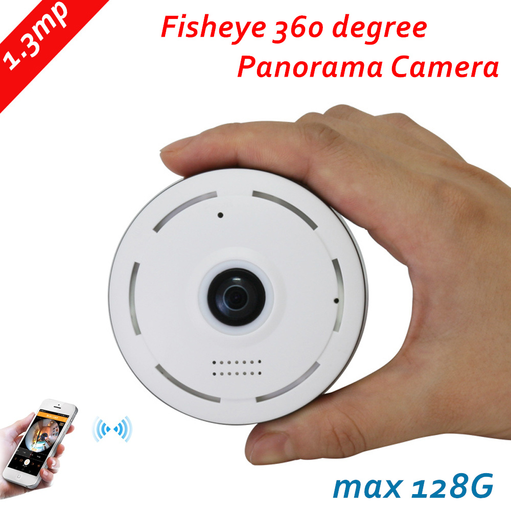 960P IP Camera Fisheye Panorama 1.3MP Lens IR Night Vision HD Security CCTV Camera 360 Degree View P2P max 128G 2way voice 1 to 4 video cutting panorama ir ip camera poe 3mp 360 degrees view fisheye cctv camera support onvif p2p cloud ie view