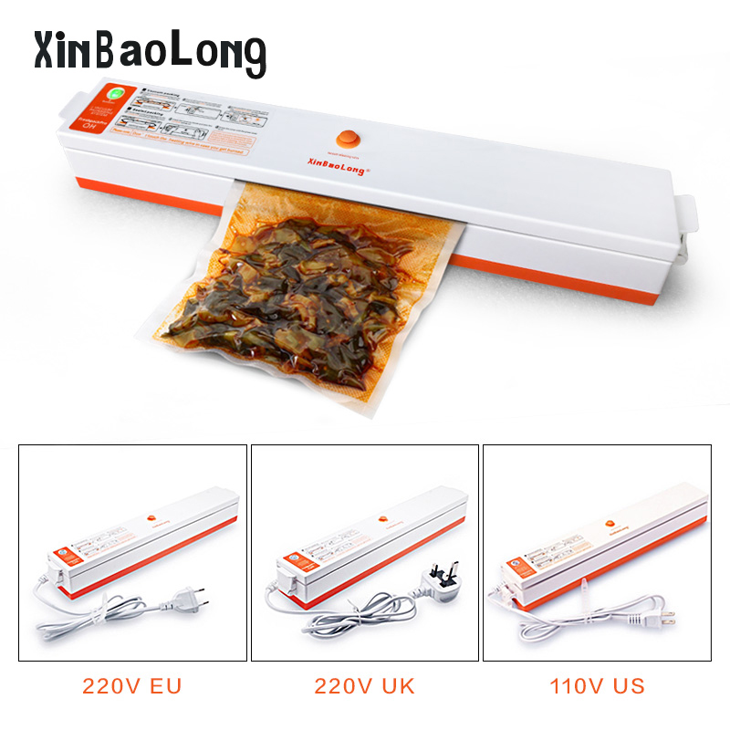 Household Food Vacuum Sealer China Machine Sealing Saver Keep Fresh Food Packaging Machine Vacuum Sealer Packer 15pcs Bags