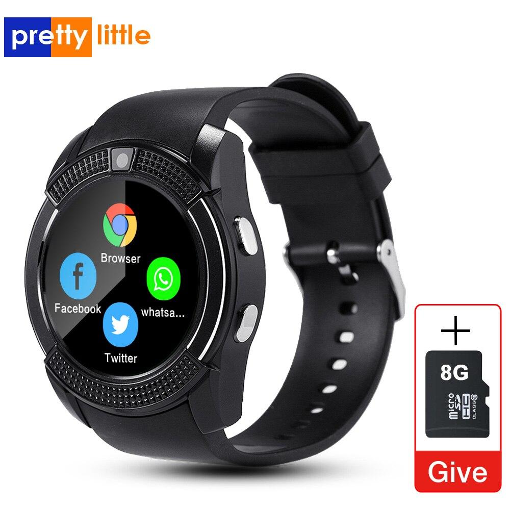 Homens do esporte Relógio Inteligente v8 cartão sim câmera android Chamada Resposta arredondado Disque Chamada Smartwatch Freqüência Cardíaca Rastreador De Fitness