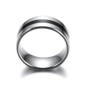ZORCVENS 316L High Quality Men Epoxy Titanium Stainless Ring Lover Couple Rings for Women Men Silver Vintage Cool Rings 1