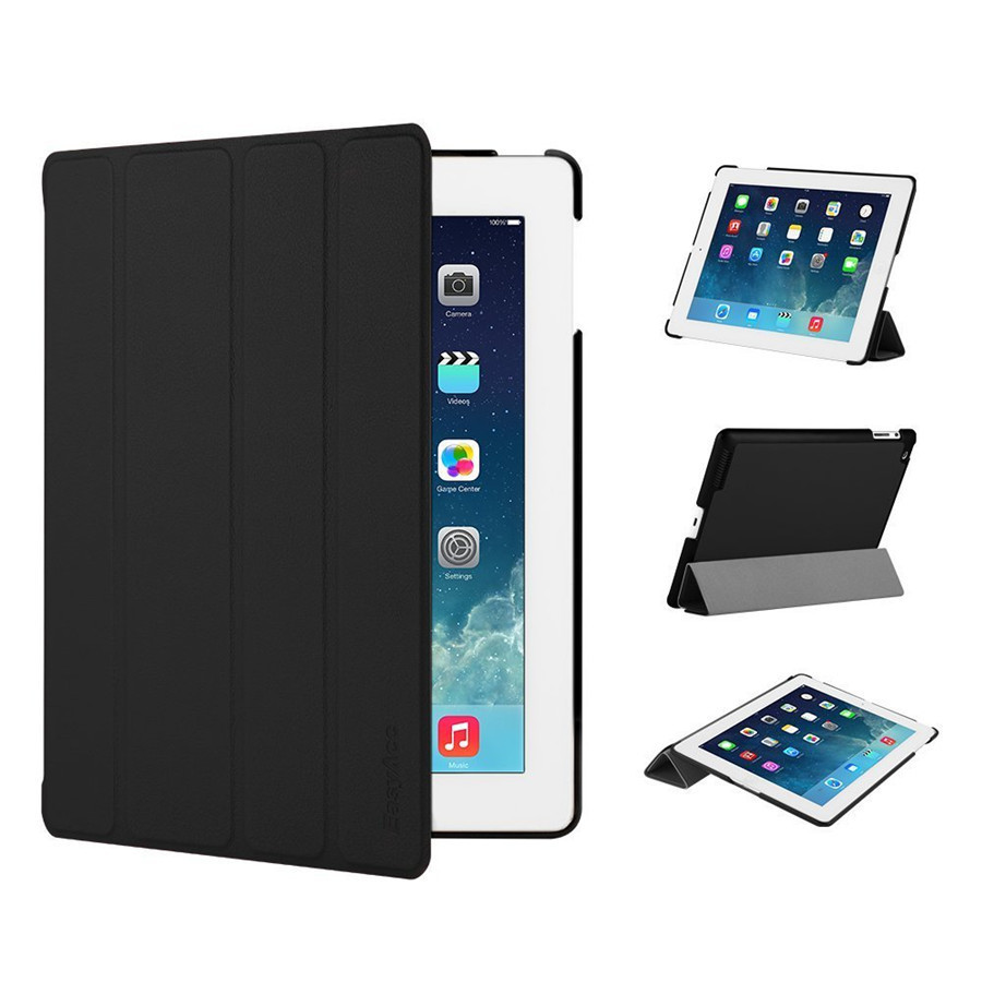 Case for iPad 2 3 4 Easyacc Soft Back Folio Stand with Auto Sleep Wake Up PU Leather Smart Cover for iPad 3 4 2 Case in Tablets e Books Case from Computer Office