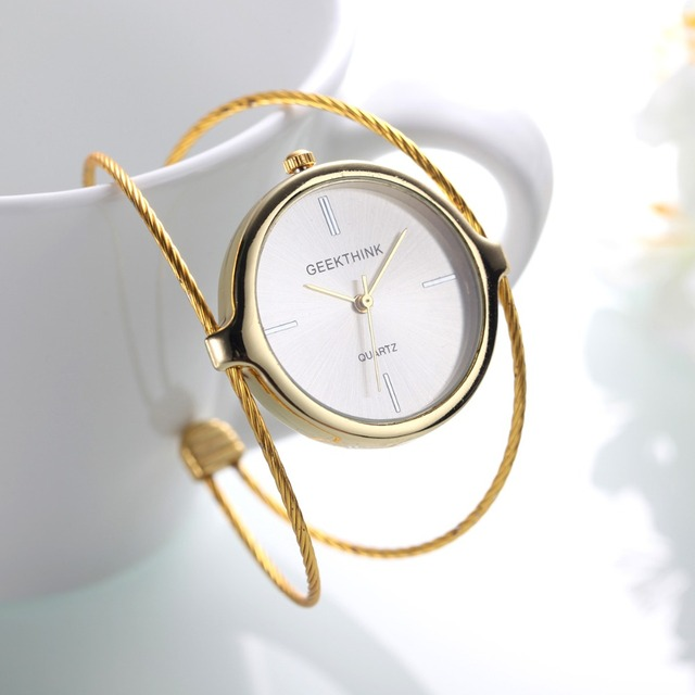 Fashion Simple Women Bracelet Watch Ladies Casual Quartz Dress Women Watches Gol