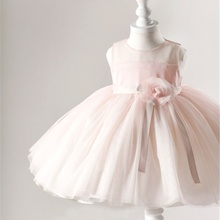 Wedding Party Pink Colors Girl Dresses Children Dress For Girls 2016 Summer Princess Baby Clothing Flowers Bow Kids Clothes 0-2Y