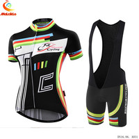 Women Summer Cycling Jersey Clothes Outdoor Mountain Road Bicycle Wear Short Sleeve Uniform Columbia Clothing 9D