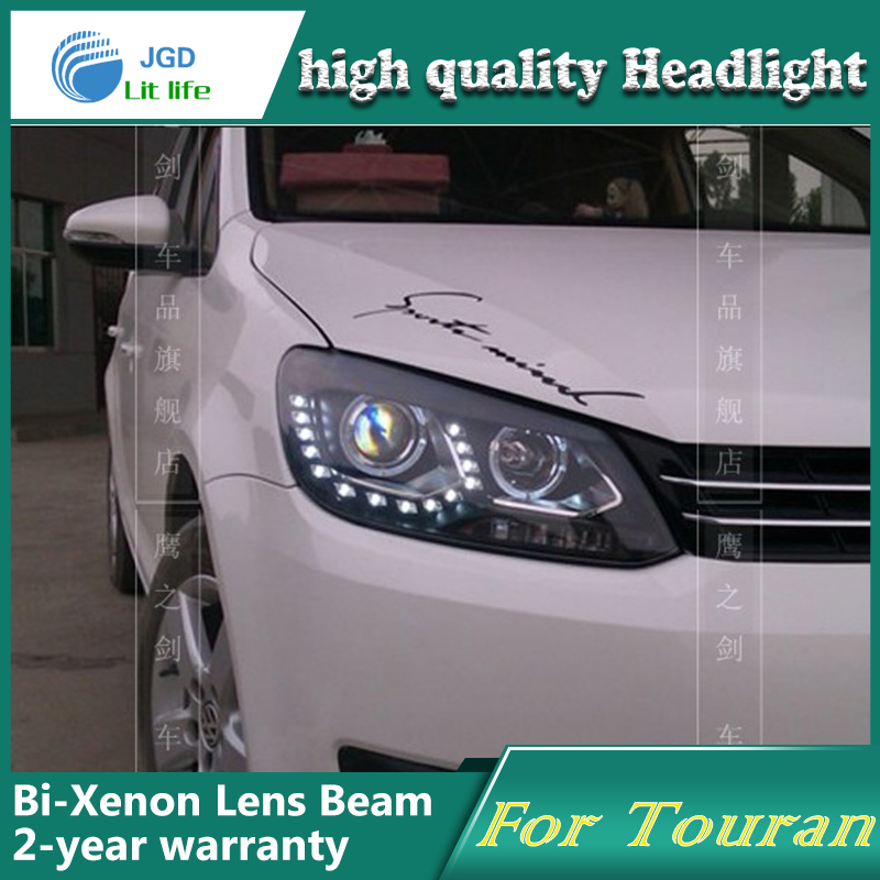 high quality Car Styling Head Lamp case for VW Touran 2011 LED Headlight DRL Daytime Running Light Bi-Xenon HID Accessories high quality h3 led 20w led projector high power white car auto drl daytime running lights headlight fog lamp bulb dc12v
