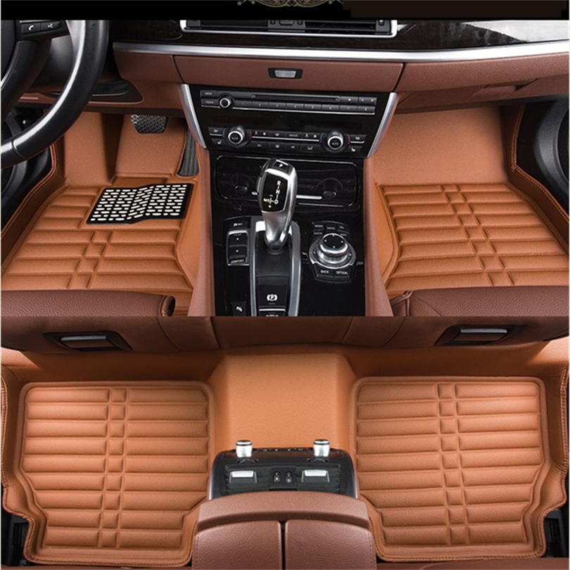 Auto Floor Mats For BMW F10 F18 520 528 530 535 2010-2017 Foot Carpets Step Mat High Quality Water Proof Clean Solid Color Mats