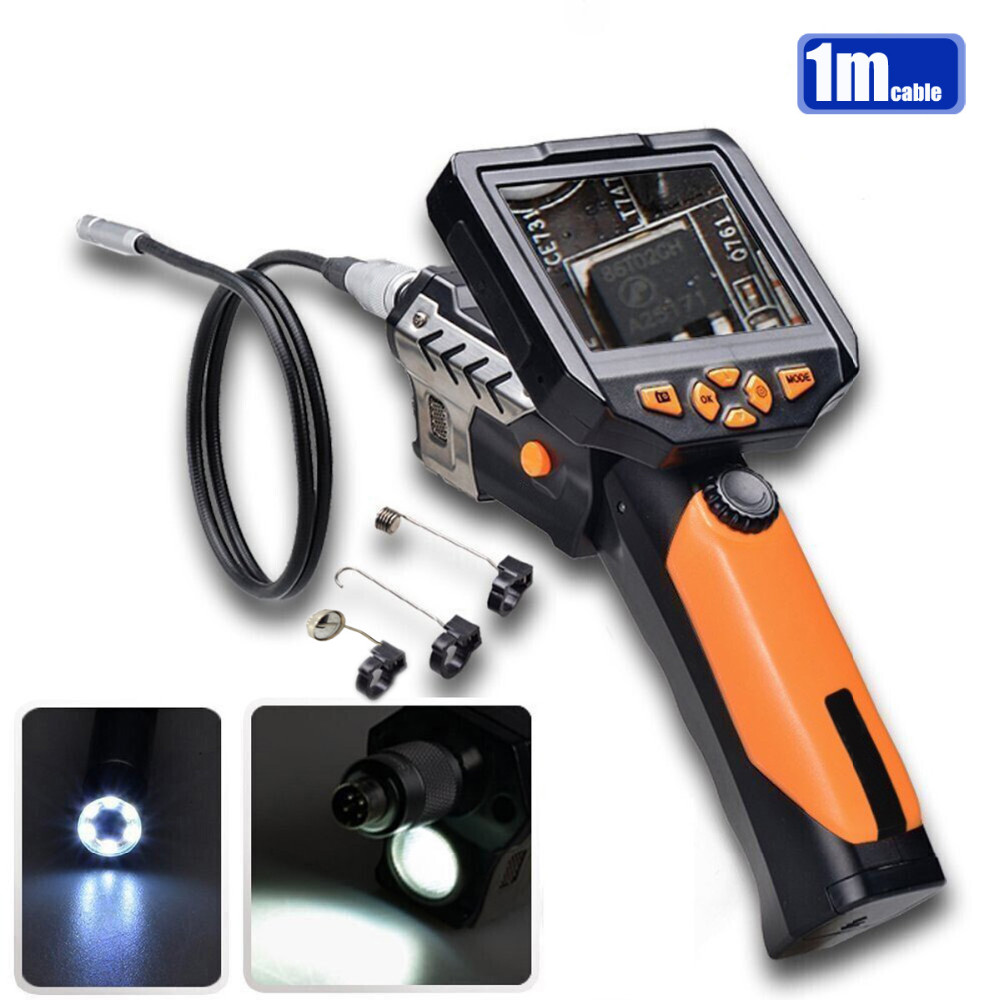NTS200 3.5 LCD Monitor HD 720P Digital Endoscope Borescope Tube Snake Inspection Camera Video DVR 8.2mm Diameter 1 Meters Tube supereyes 3 5 monitor waterproof borescope videoscope 9mm diameter 800mm snake tube endoscope camera with led inspection n012j