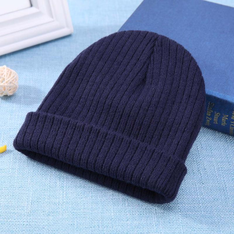 7d73d51621f Spring Autumn Baby Warm Beanies Solid Crochet Knitted Hat Boys Gilrs Caps  Toddler Infant Accessories