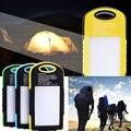 LLEVÓ La Lámpara Externa Dual USB Banco de la Energía Solar Portátil Cargador de Batería de Reserva 8000