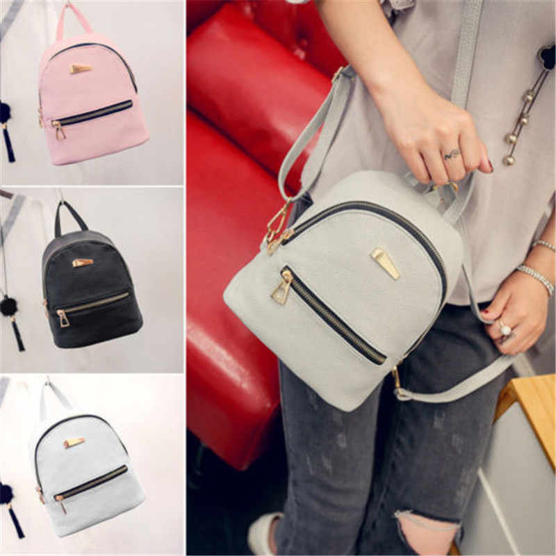 9dcb3eb5718 Detail Feedback Questions about Women Girl Mini Backpack PU Leather ...
