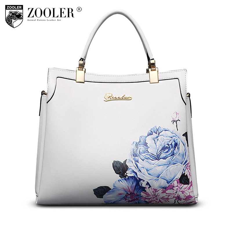ZOOLER 2018 brand genuine leather ladies handbags tote bag for women famous messenger bags luxury shoulder crossbody bags 10105 in garden мармелад 10