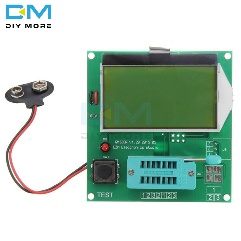 Component GM328A Transistor Tester Graphic Wave Signal 9V 20mA LCR RLC PWM ESR Digital LCD Display Diy Electronic PCB Board
