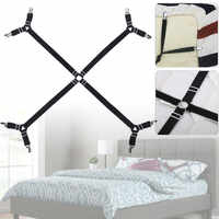 Bed Sheet Straps Long Adjustable Crisscross Sheet Clip Keep Your Bed Sheets in Position Elastic Straps for Bed Sheets