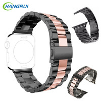 HANGRUI 38MM 42MM Stainless Steel Watchbands For Apple Smart Watch Strap Replacement For IWatch Series 1