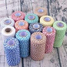 100 м/рулон цветные хлопковые шнуры для украшения дома