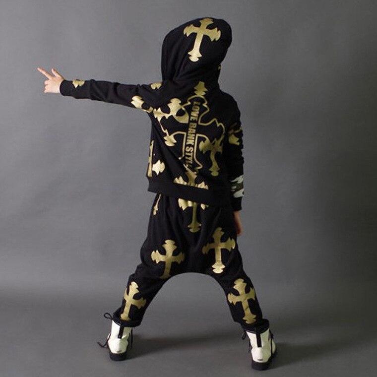 Children's Modern Jazz Ensemble Boy & Girl Street Dance Suit Jackets + Pants Sets Toddler Drum Ensemble Student Dance Suits