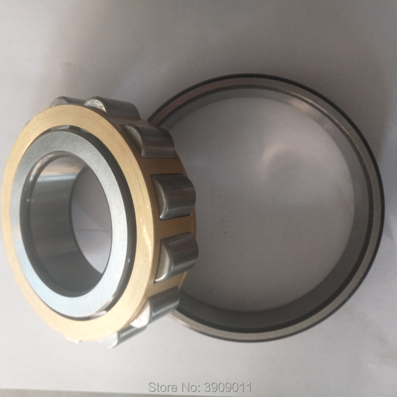 SHLNZB Bearing 1Pcs N414 N414E N414M N414EM N414ECM C3 70*180*42mm Brass Cage Cylindrical Roller Bearings shlnzb bearing 1pcs nu2328 nu2328e nu2328m nu2328em nu2328ecm 140 300 102mm brass cage cylindrical roller bearings