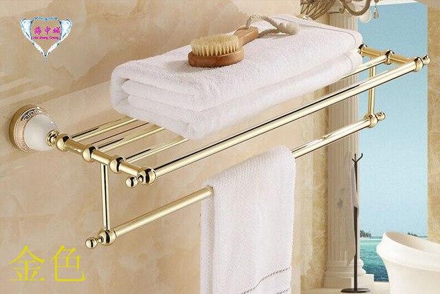 Gratis verzending hot verkoop golden badkamer accessoires handdoek