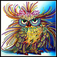 Alien, crystal, mosaic diamond painting, animal, owl, pattern, Diy, handmade home decoration, sewing, 5D, diamond embroidery