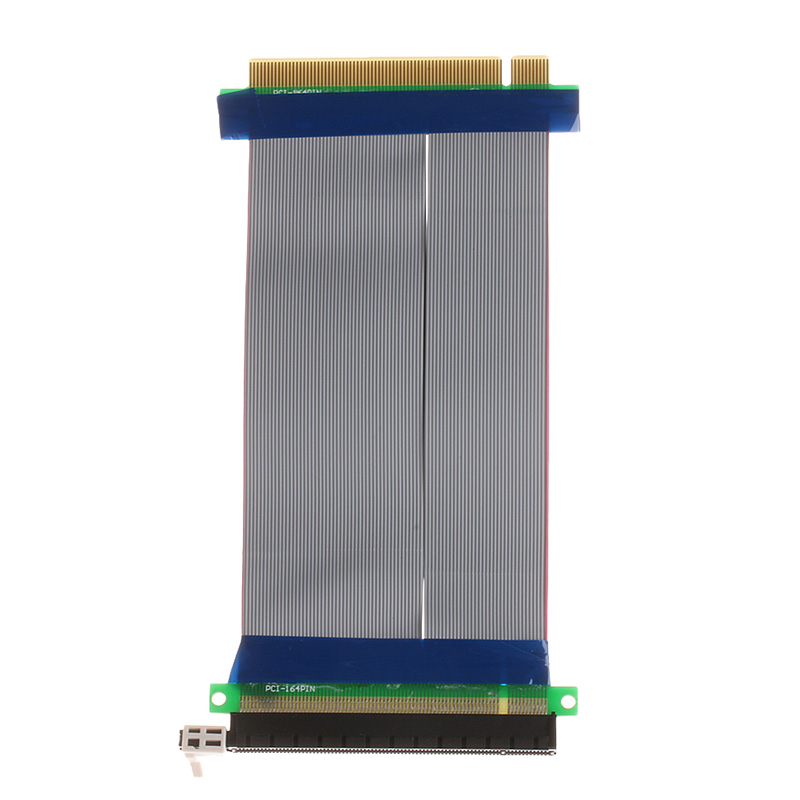 High Quality New PCIe 16X PCI Express PCI-E 16X To 16X Riser Extender Card Adapter Flexible Cable Feb6