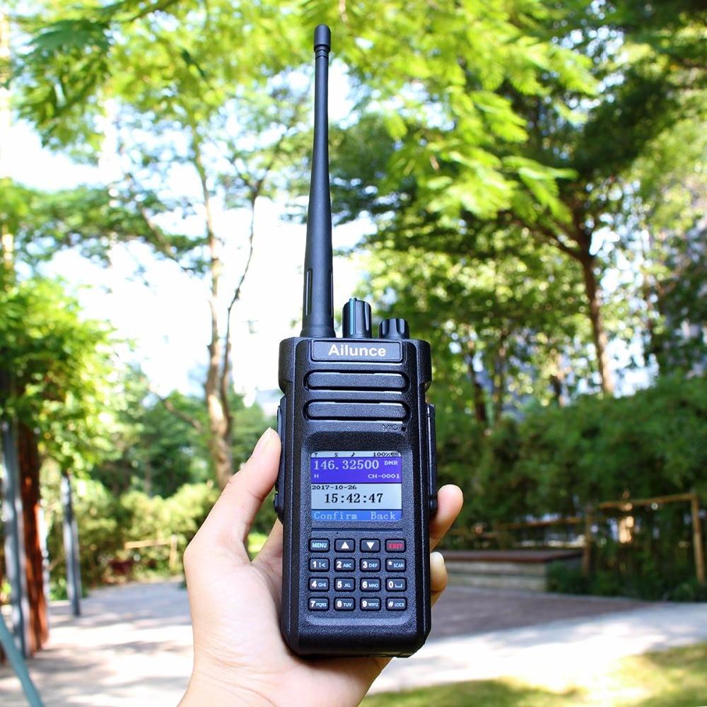 DMR Radio RETEVIS Ailunce HD1 Ham Radio Digital Walkie Talkie Waterproof GPS VFO FM 10W VHF UHF Dual Band DMR Radio Communicator