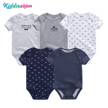 5PCS/sets Unisex Top Quality Baby Rompers 2018 Summer Short