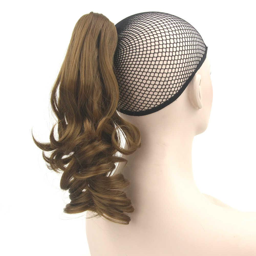 Soowee волнистые Синтетические волосы коготь хвост черный парик Little Pony хвост клип в наращивание волос парики postiche очереди de cheval