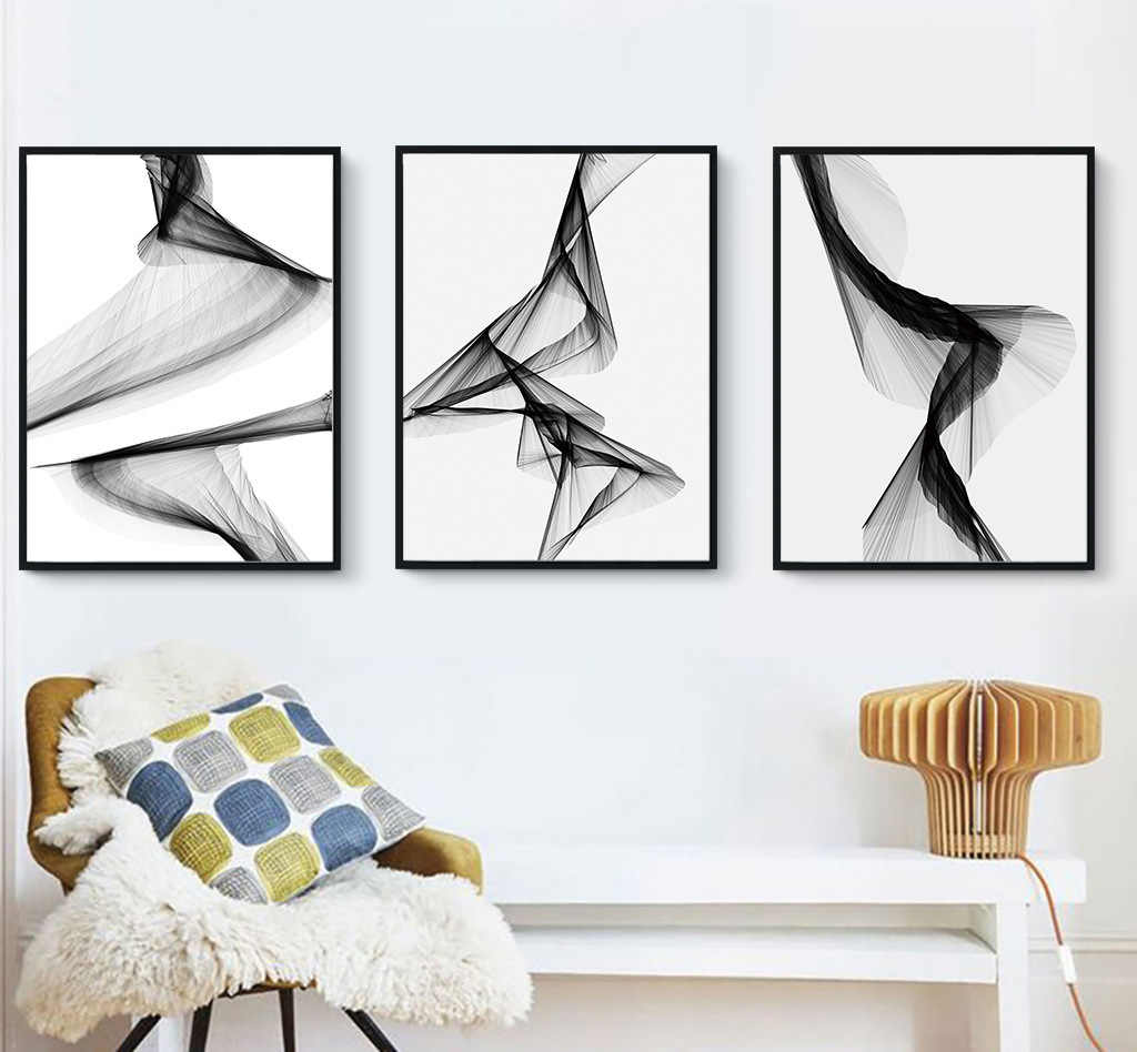 New Chinese Modern Simplicity Abstract Hanging Picture Bedroom Bedside Decoration Drawing Living Room Canvas Painting Wall Art