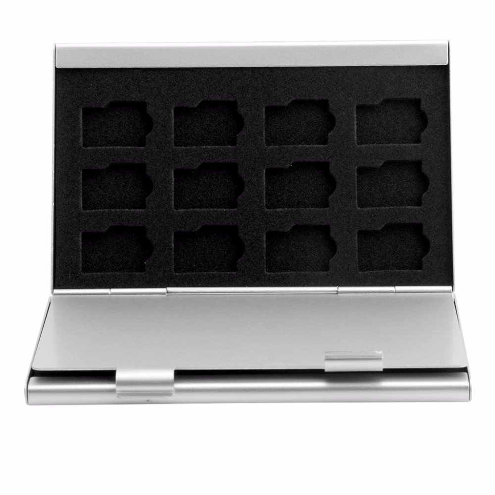 Silver Aluminum Memory Card Storage Case Box Holder For 24 TF Micro SD Cards - L059 New Hot