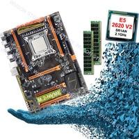 HUANAN ZHI deluxe X79 motherboard CPU RAM set computer hardware CPU Intel Xeon E5 2620 V2 2.1GHz RAM 16G(2*8G) DDR3 1600 REG ECC