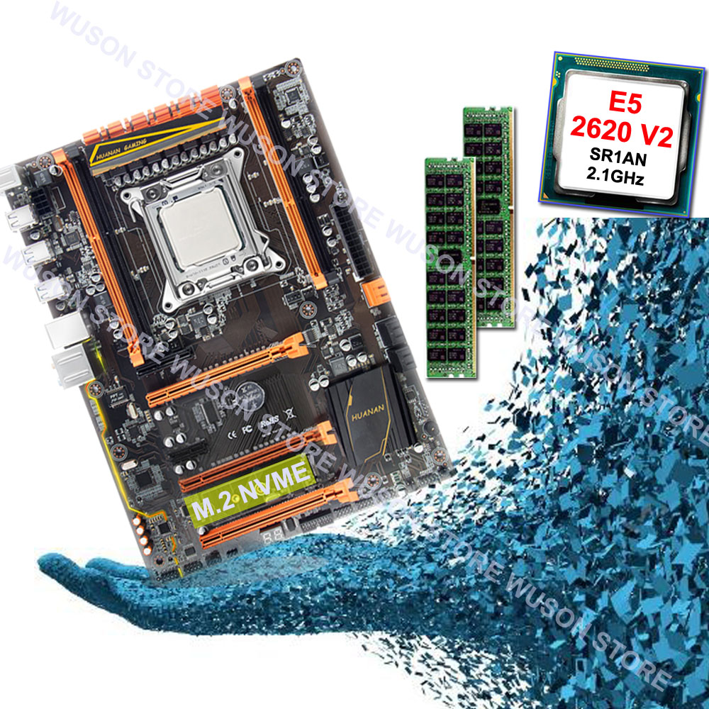 HUANAN ZHI deluxe X79 motherboard CPU RAM set computer hardware CPU Intel Xeon E5 2620 V2 2,1 ghz RAM 16g (2*8g) DDR3 1600 REG ECC