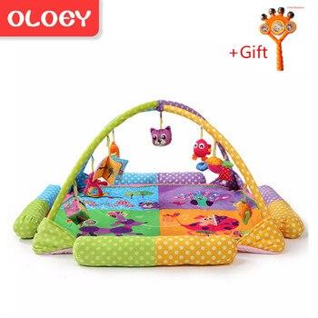 2746ebe9a Oloey suave bebé alfombra de juego de música Pavo Real Animal juguetes  educativos para niños alfombra
