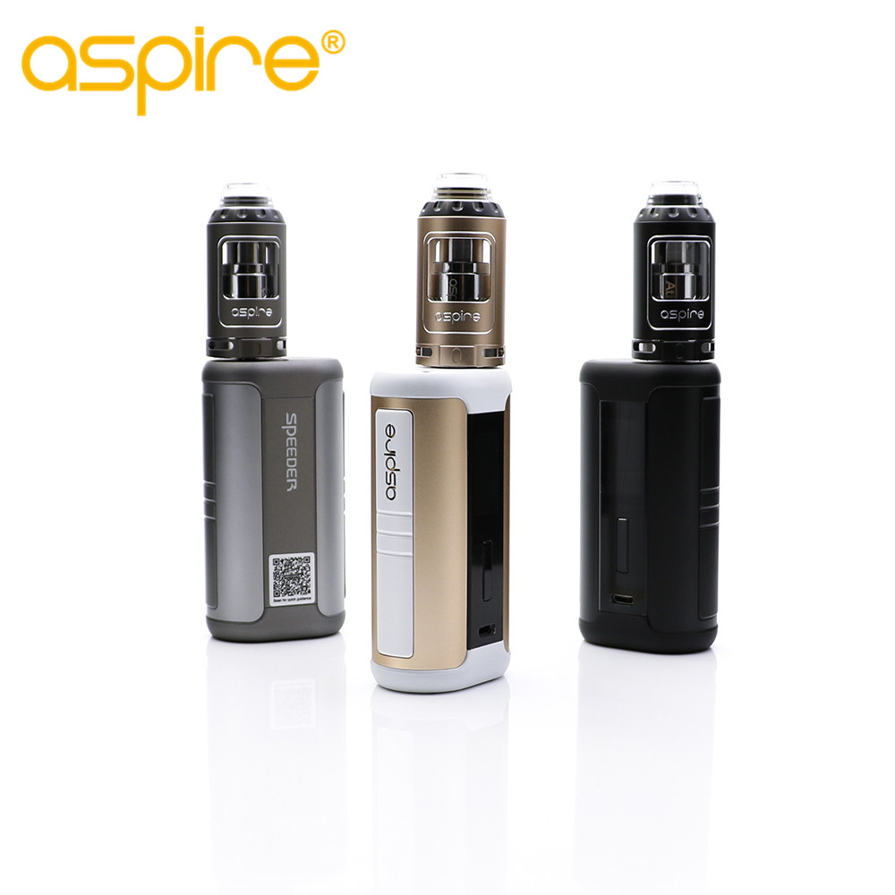 original Aspire 200W Speeder kit with aspire athos tank electronic cigarette kit vape huge cloud high quality easy to clean original aspire speeder tc kit 200w with speeder box mof and 4ml athos tank adjustable bottom airflow top filling dense clouds