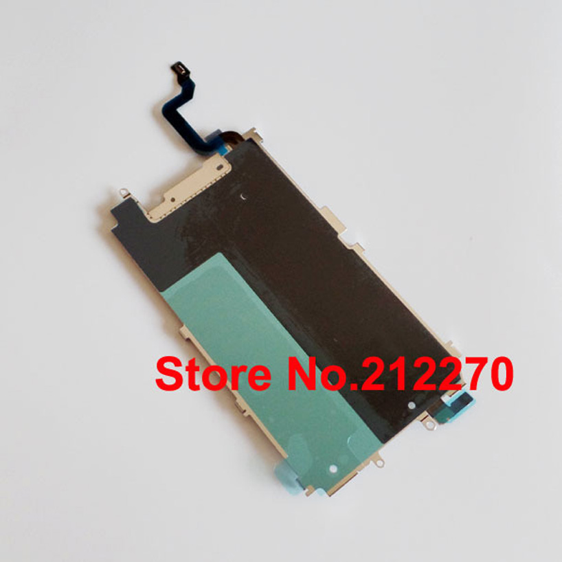 YUYOND 50pcs lot New LCD Metal Backplate Shield Home Extend Flex Cable for iPhone 6 4
