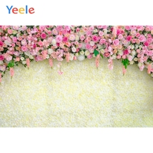 Yeele Pink Flower Curtain Wedding Backdrop Photography Children Baby Birthday Party Photo Backgrounds Photocall For Studio